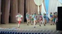 group of young children performing a dance on stage. Stock Footage