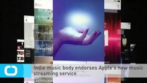 Indie Music Body Endorses Apple's New Music Streaming Service