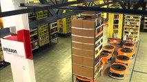 Amazon Kiva robots - Amazing robots work in Amazon