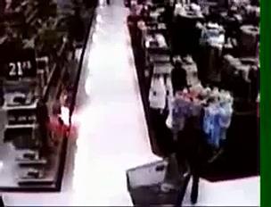 Walmart Fire on Security Cameras