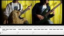 10) Rammstein - Seemann / Rammstein (Bass & Guitar lesson + TAB | Cover HD)