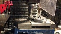 CNC machining of aluminum - edge rounding on milling machine