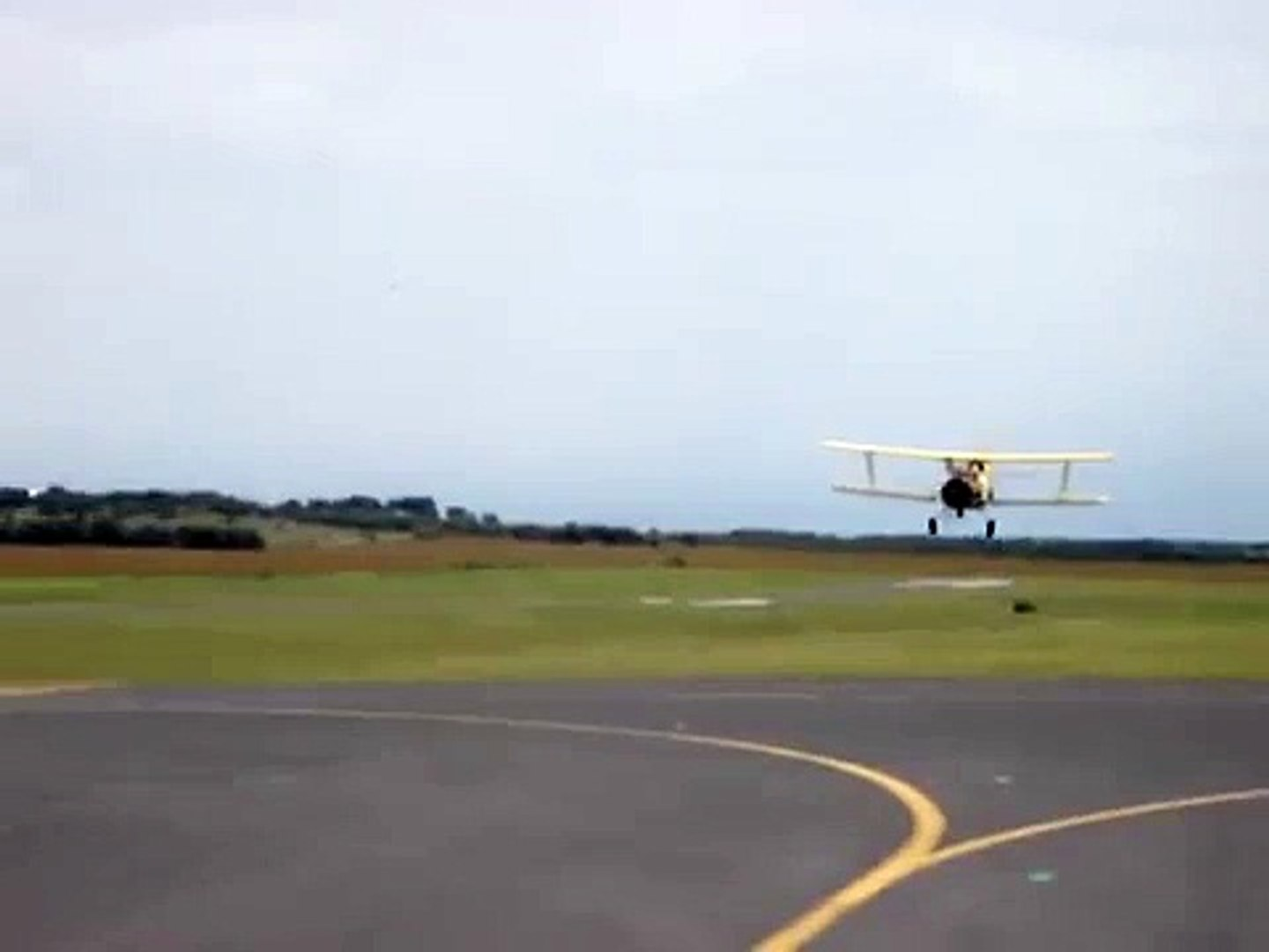 Bi-Plane Crop Duster Aerial Fly Over and Trick / Stunt