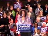 Oprah campaigns with Obama in Iowa