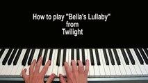 Bella's Lullaby Piano Tutorial Carter Burwell - Twilight
