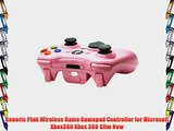 Generic Pink Wireless Game Gamepad Controller for Microsoft Xbox360 Xbox 360 Slim New