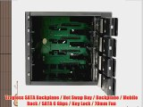StarTech.com 4 Drive Bay Aluminum Trayless Hot Swap Mobile Rack Backplane with Fan and Lock