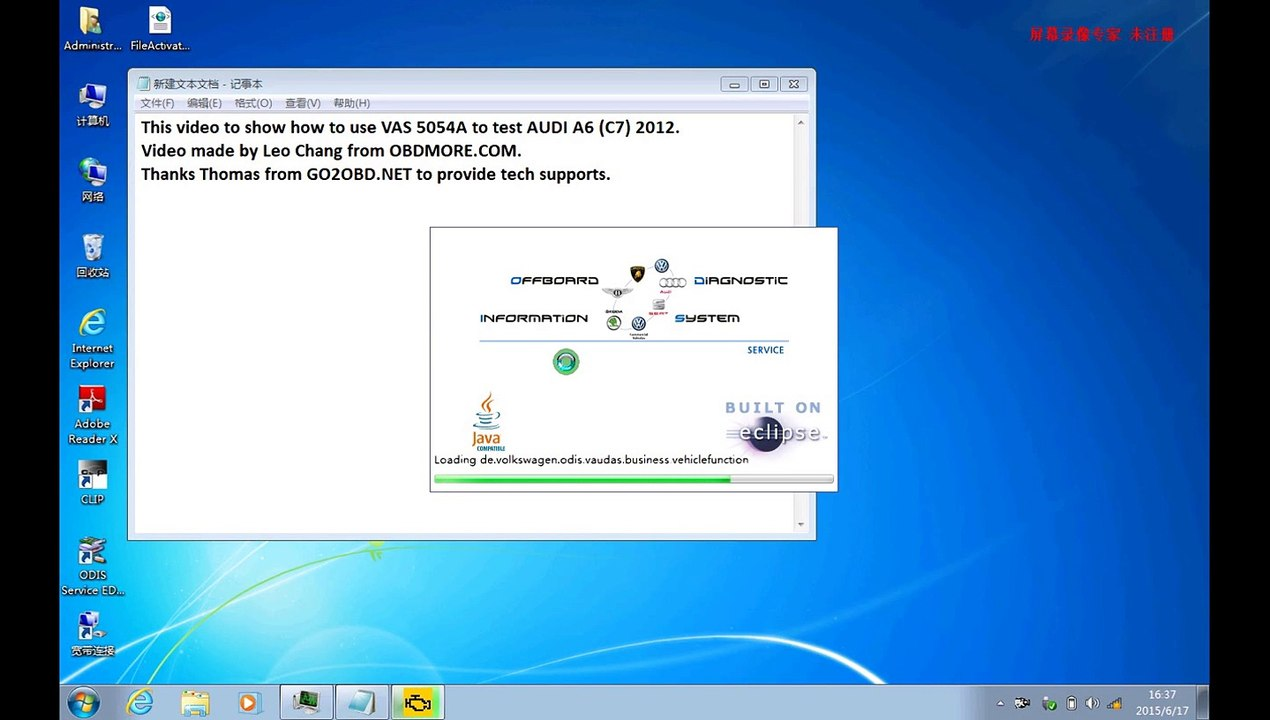 How to use VAG Vas 5054A test on Audi A6