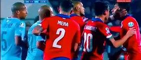 Edinson Cavani sent off - Chile vs Uruguay - Copa América 2015