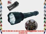 CREE T6 XML XM-L 6x Q5 Led 1600 Lumens Flashlight Torch Set 2x18650 CH