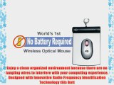 Battery Free Wireless Optical Mouse with 2 ft' wired USB for the Rectangular Pad