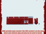 BlueFinger Cool Red Wireless Keyboard and Mouse Combo Set   BlueFinger Customized Mouse Pad