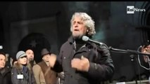 Beppe Grillo su monti, la democrazia e la presenza nei talk show: usate la televisione.