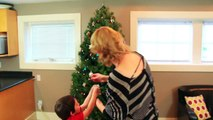 Katies' Christmas Tree - Decorating with Jackson