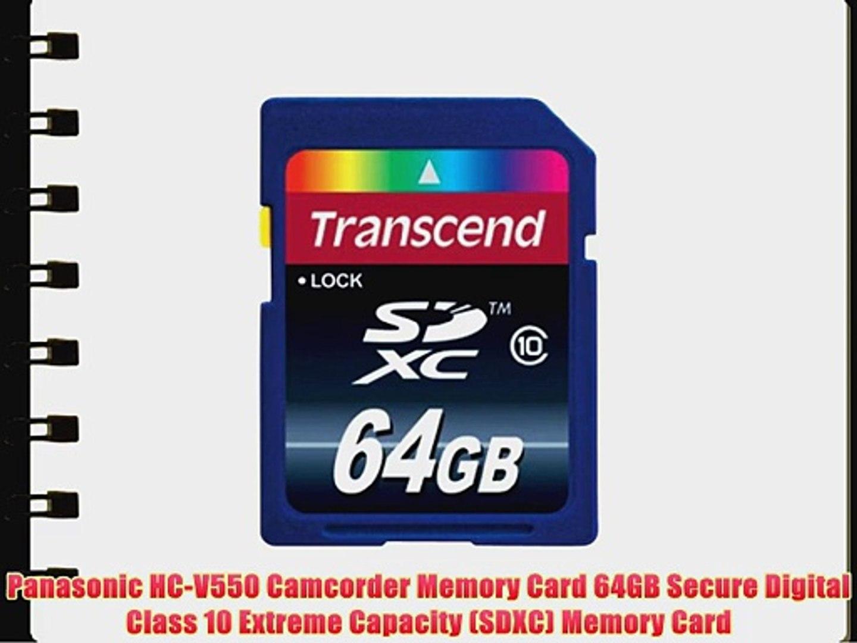 Memory Card 2 Pack Panasonic HC-V550 Camcorder Memory Card 2X 64GB Secure Digital Class 10 Extreme Capacity SDXC
