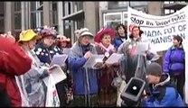 Raging Grannies on October 27 Against War