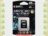 EMTEC Class 4 microSDHC Flash Memory Card 8 GB with SD Adapter