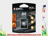 EMTEC Class 10 SDHC Flash Memory Card 32 GB