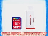 Transcend 16 GB SDHC Class 2 Flash Memory Card with USB Card Reader TS16GSDHC2-P2E [Amazon