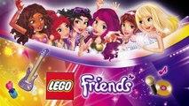 Cartoon LEGO Friends Pop Star in the Tour Bus