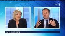 """Marine Le Pen dénonce la loi """"Rothschild"""" et la gouvernance mondiale."""