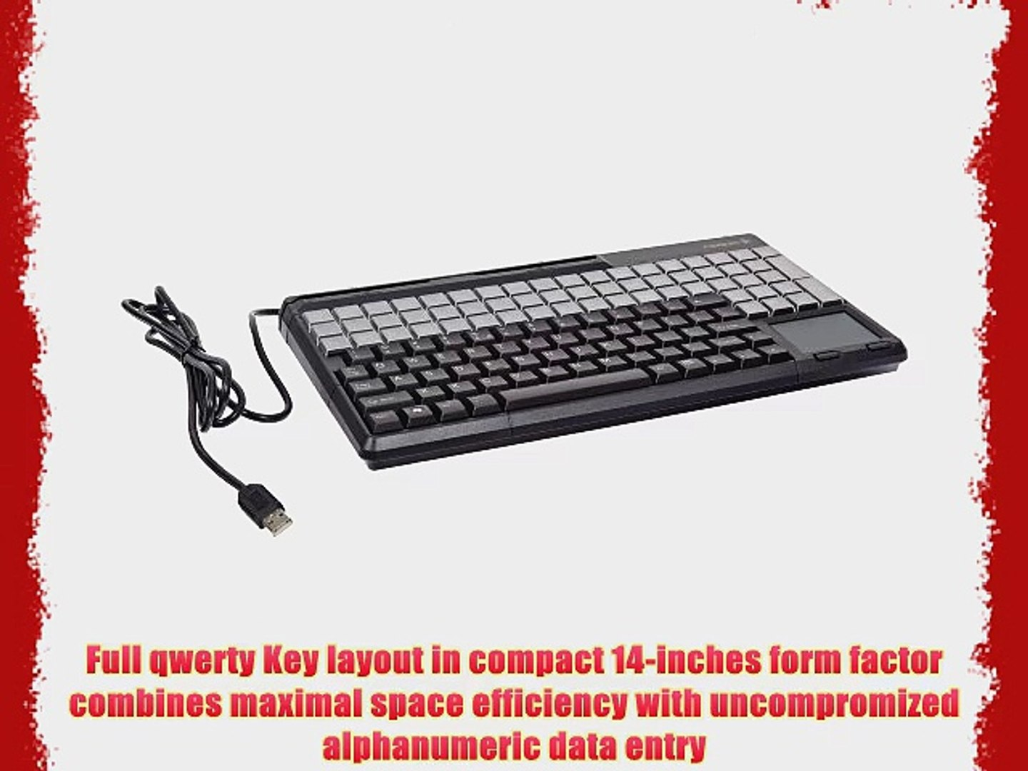 Cherry G86-61411EUADAA SPOS Qwerty Keyboard with USB Interface and 3-Track Magnetic Stripe