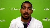 Les réactions de David Larose suite à son élimination lors des championnats d'Europe à Bakou.