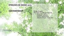 Epreuves de danse 2013 DANSE CONTEMPORAINE fin troisième cycle