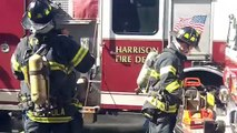 NEW Harrison NJ Fire 6th alarm fire with explosion backdraft March 10th 2013 firefighters injured
