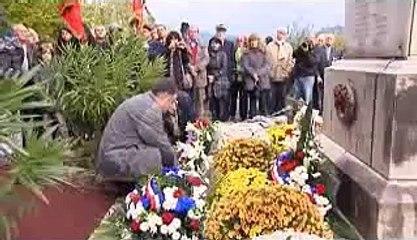 Reportage France 3 Côte d'Azur, 11 novembre 2014, hommage au Poilu Valère Lecointe