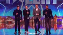 """Britain's Got Talent S08E04 Jack Pack Big Band Boy Band Sing Frank Sinatra's """"That's Life"""""""