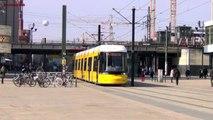 Berliner Straßenbahn - Trams in Berlin am Alexanderplatz