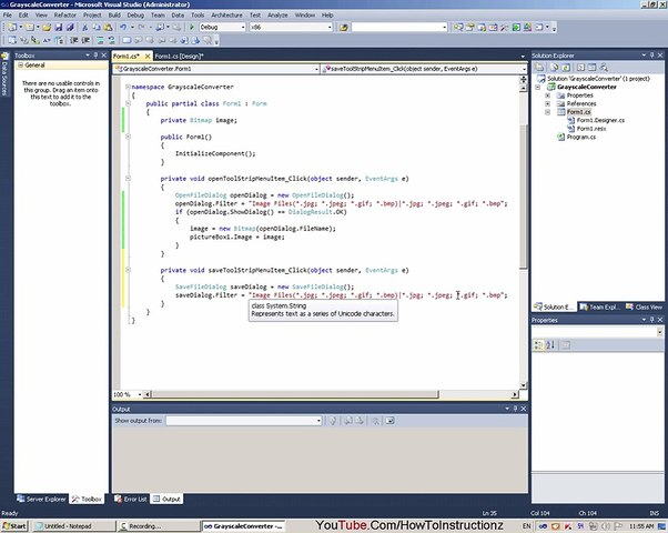 C# Image To Grayscale Using AForge NET