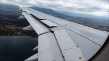 Swiss Airbus A320 Nice Approach and Hard Landing In Geneva (GVA/LSGG) !