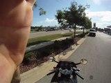 GOPRo helmet cam on a gsxr 600 motorcycle,bad driver in white van..MP4