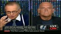 "Pt 1/3 Jesse Ventura discusses his new book ""American Conspiracies"" 3/8/10 - CNN's Larry King"