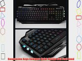 Genius Professional 7 Colorful LED Backlit USB Wired Gaming Keyboards Backlight Keyboards