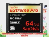 Sandisk Extreme Pro 64 GB CompactFlash (CF) Card SDCFXPS-064G-A46