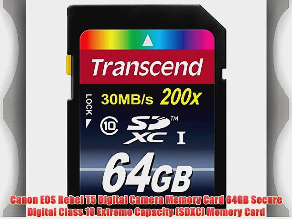 Canon EOS Rebel T6/ Digital Camera Memory Card 64GB Secure Digital Class 10 Extreme Capacity SDXC Memory Card