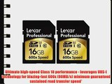 Lexar Professional 600x 16GB SDHC UHS-I Flash Memory Card 2-Pack of 16GB