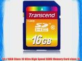 10 PACK Transcend TS16GSDHC10 10 x 16GB SDHC Class 10 Flash Memory Card