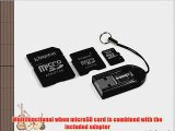 Kingston Mobility Kit - 8 GB microSDHC Flash Memory Card with SD and miniSD Adapters   USB