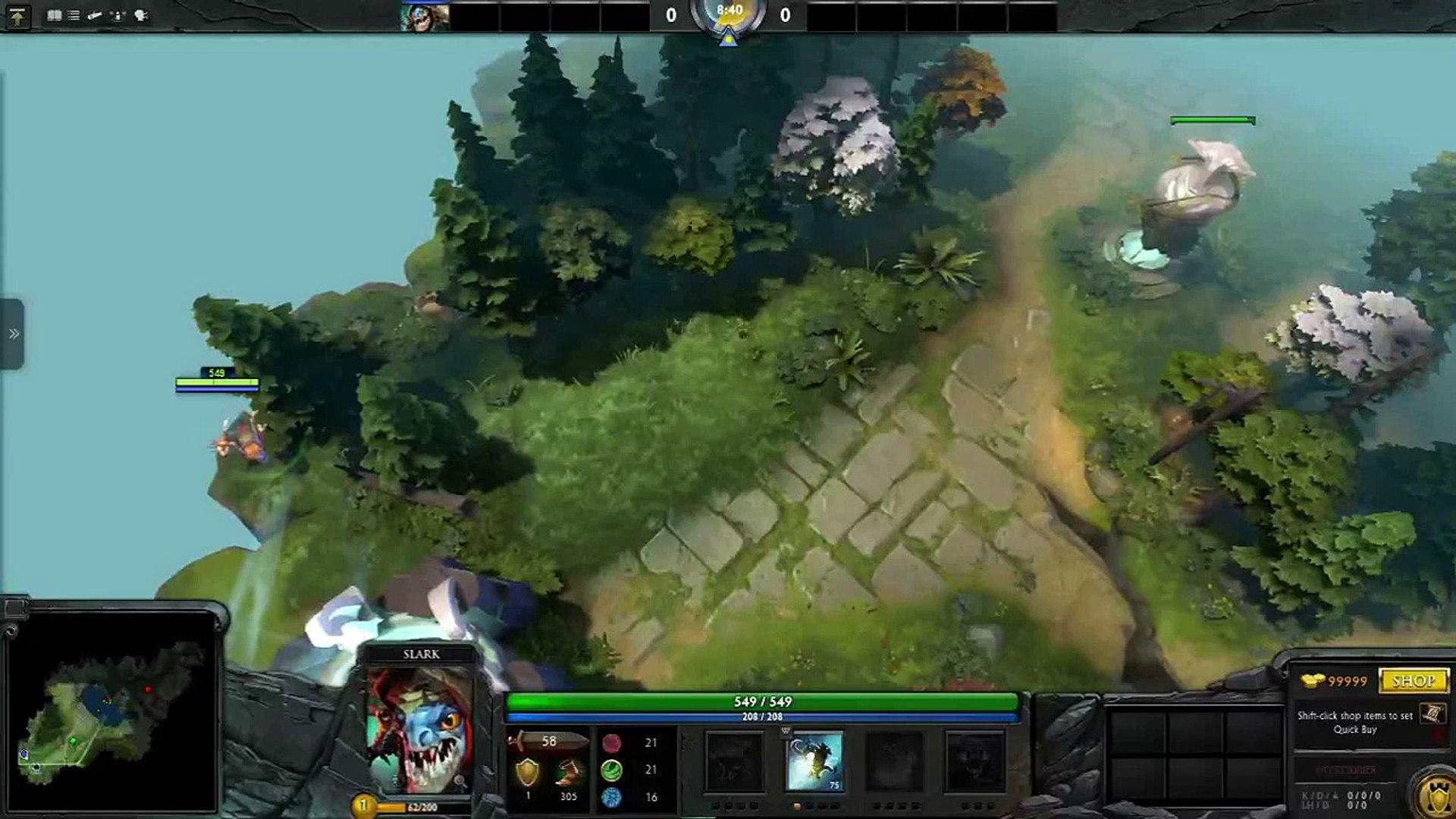 Dota 2 Reborn Demo Hero Bug (Slark)