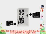 3C Pro 32GB 32G 16GB x2 microSD microSDHC Card Class 4 with Memory Stick Pro Duo Adapter -