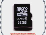 Komputerbay 32GB MicroSD SDHC Microsdhc Class 6 with Micro SD Adapter and Mini SD Adapter
