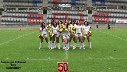 Cheerleaders Templiers Seniors. Animation de la mi temps du Casque de Diamant 2015