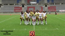 Cheerleaders Templiers Seniors. Animation de la mi temps du Casque de Diamant 2015