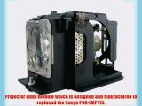 Sanyo POA-LMP115 replacement projector lamp bulb with housing - high quality replacement lamp