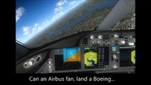 flight simulator: 787 landing lax hd video game flight sim