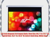 Elite Screens Starling Series 135-inch Diagonal 16:9 Electric Motorized Projection Screen White